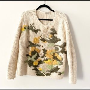 Anthropologie, chunky oversized knit sweater